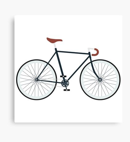 Fixie, Fixed Gear, Biking Cycler Canvas Print