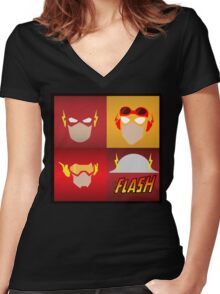 the flashes gen Women's Fitted V-Neck T-Shirt