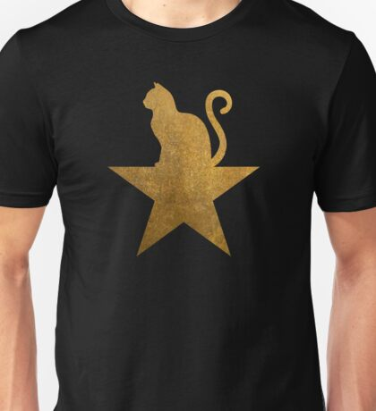 Gold Hamilcat Star Cute Cats Design Unisex T-Shirt