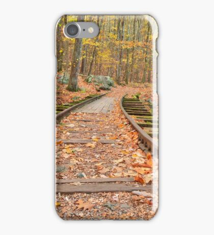 Autumn Logging Railroad iPhone Case/Skin