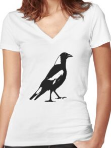 the magpie Women's Fitted V-Neck T-Shirt