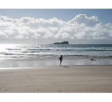 Silver morning Mudjimba Beach Photographic Print