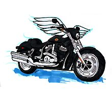 Harley Wings Photographic Print