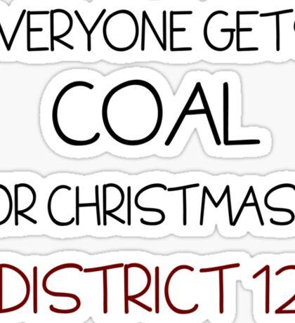 Coal for Christmas Sticker