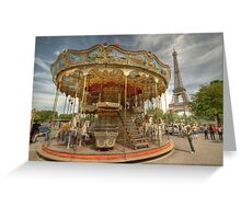 Paris Carousel Greeting Card