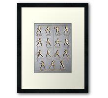 "Fiore dei Liberi ""Getty"" Armored Positions  Framed Print"