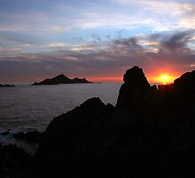 sunrise  from sanguinary islands (corsica) by JPhi2a