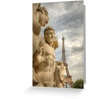 Eiffel Tower Statues Greeting Card