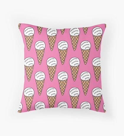 ice cream doodle pattern Throw Pillow