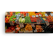 Vegetable Stand Canvas Print