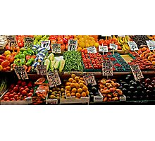 Vegetable Stand Photographic Print