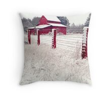 southern snow Throw Pillow