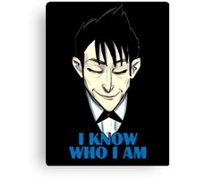 I know who I am Canvas Print