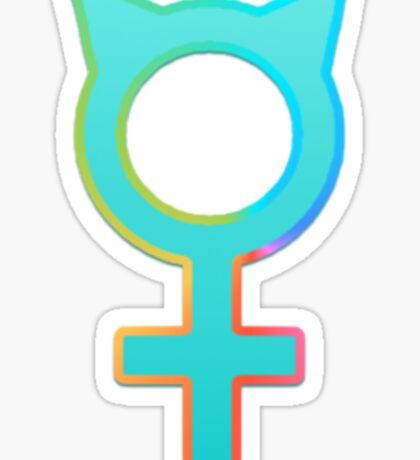 Pro-Feminism Pro-Cats Sticker