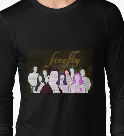 Firefly and Serenity Character Quotes Long Sleeve T-Shirt