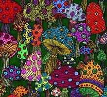 Mushrooms Phone Case by Mackenzie Ball