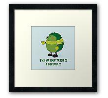 Eco Hedgehog Framed Print