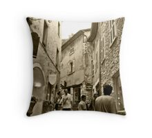 A Walk On The Town Throw Pillow