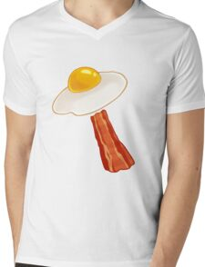 Unidentified Flying Breakfast Mens V-Neck T-Shirt