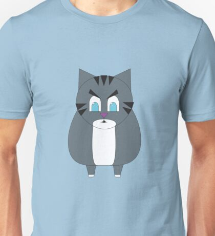 Angry Cartoon Tabby Cat Unisex T-Shirt