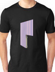 Glitch Homes Wallpaper purple stripes right divide Unisex T-Shirt