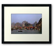 Floating Market, Viêt Nam Framed Print