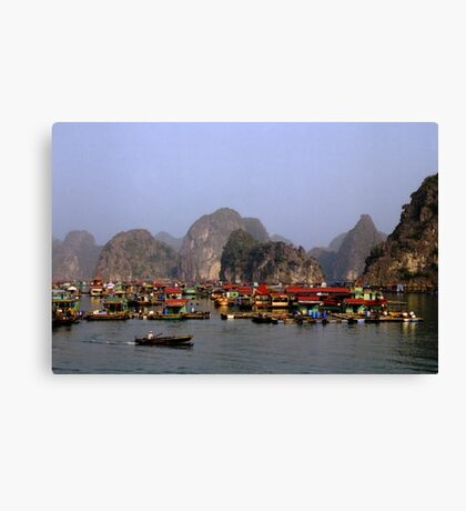 Floating Market, Viêt Nam Canvas Print