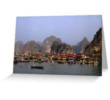 Floating Market, Viêt Nam Greeting Card