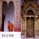 Framed – Monk and Wat in Laos by Joumana Medlej