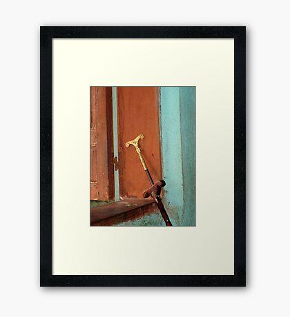 Mequamia, Ethiopian prayer stick Framed Print