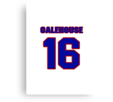 National baseball player Denny Galehouse jersey 16 Canvas Print