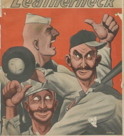 SEPT 15, 1945 , LEATHER NECK MAGAZINE COVER Sticker