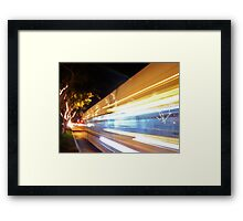 Faster than a speeding Bus Framed Print