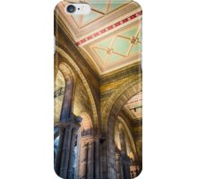 A ceiling at the Natural History Museum, London, England iPhone Case/Skin