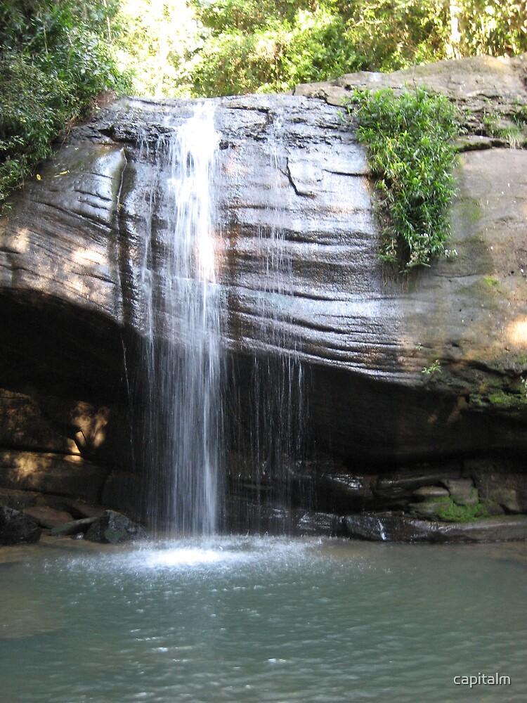 waterfall by capitalm