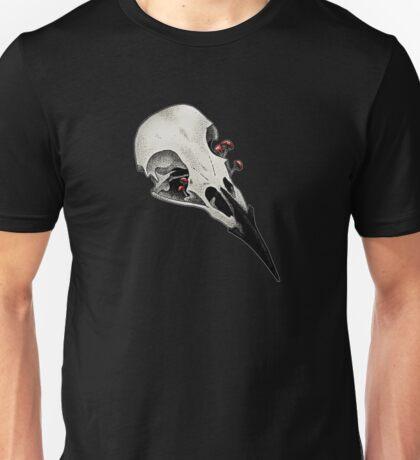 raven skull color Unisex T-Shirt
