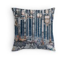 First snow in the Forest Throw Pillow