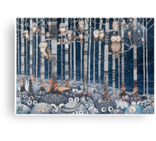 First snow in the Forest Canvas Print