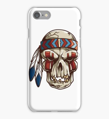 Skeleton skull head iPhone Case/Skin