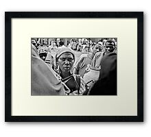 'The transaction' Northern Rwanda Framed Print
