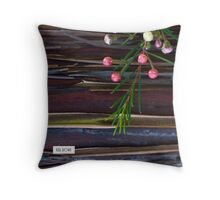 Bark and buds. Throw Pillow