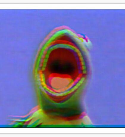 kermit screaming meme Sticker