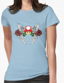 Super Mario Design Womens Fitted T-Shirt