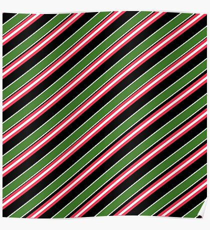 Team Colors 3 ...red,green,black,white Poster