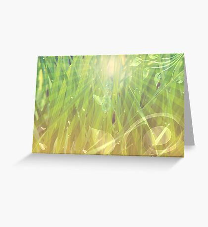 Abstract grass background Greeting Card