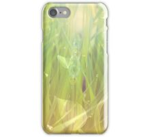 Abstract grass background iPhone Case/Skin