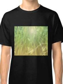Abstract grass background Classic T-Shirt