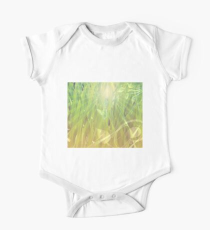 Abstract grass background One Piece - Short Sleeve
