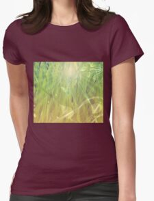 Abstract grass background Womens Fitted T-Shirt