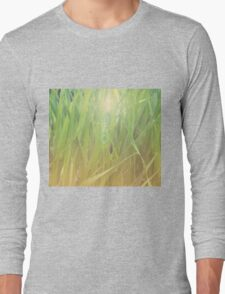 Abstract grass background 2 Long Sleeve T-Shirt